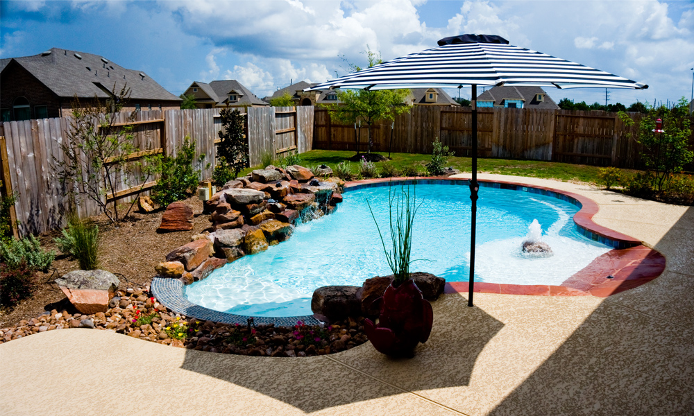 Outdoor swimming pools pool designs pool gallery design for Pool design richmond va